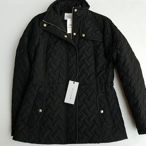 Cole Hahn quilted black jacket S Pockets NWT nice